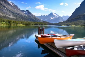 Glacier-national-park-canoes