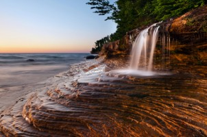 Michigan-state-park-waterfall